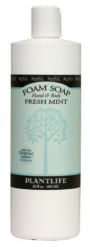 Hand Body Foam Soap Fresh Mint Refill *** Click image for more details. Organic Body Wash, Body Cleanser, Fresh Mint, Shower Gel, Bath And Body, Soap, Personal Care, Cleansers, Bottle