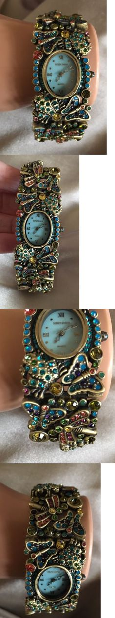 Other Jewelry and Watches 98863: New Stunning Heidi Daus Crystal Butterfly Dragonfly Frog Watch Designer New Nib -> BUY IT NOW ONLY: $80 on eBay!