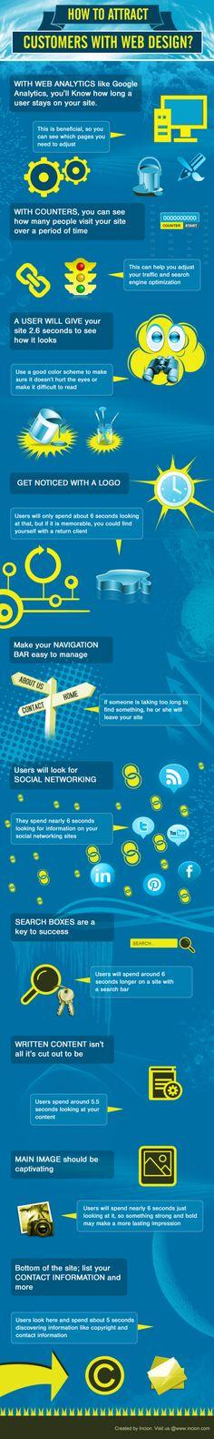 How to Attract Customers with Web Design? Infographic www.socialmediamamma.com