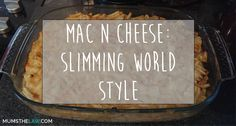 Our recipe for how to make Mac n Cheese Slimming World Style so it's suitable for consumption on the Slimming World diet plan! Slimming World Diet Plan, Slimming Eats, Slimming World Recipes, Cooking Recipes, Healthy Recipes, Healthy Tips, Healthy Food, Just Eat It, Tasty