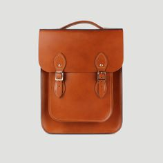 Portrait Leather Backpack made from London Tan Leather | The Leather Satchel Co.