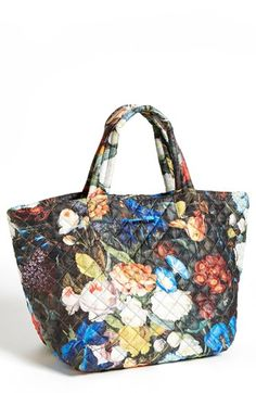 Love MZ Wallace. Cool way to do the floral trend.