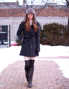 25 The Most Cutest Winter Outfits for Teen Girls - Pinmagz Winter Outfit For Teen Girls, Winter Outfits For School, Winter Outfits Women, Outfits For Teens, Trendy Outfits, Fashion Outfits, Cute Coats, New Fashion Trends, Winter Fashion