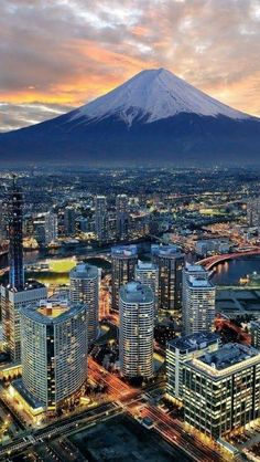 Yokohama and Mt Fuji