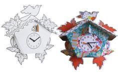 The Mickey & Stevie DIY Cuckoo Clock gives your child a chance to show off their creative talents. They can colour, stick, draw, paint and personalise