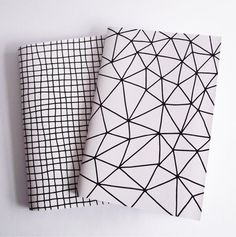 A5 Notebook Geometric Pattern Handmade Soft by SarahBurnsPrints