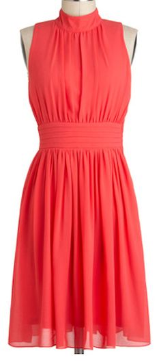 Pretty dress in #coral http://rstyle.me/n/cvh65nyg6