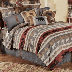 The Stone Mountain Moose & Bear Bedding Collection is sure to sweeten your dreams. We're ready for bed when it comes to comfy, cabin bedding collections!