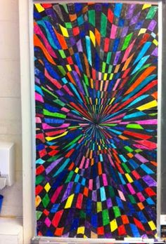 : Giant art mural , looks easy but time consuming to do alone
