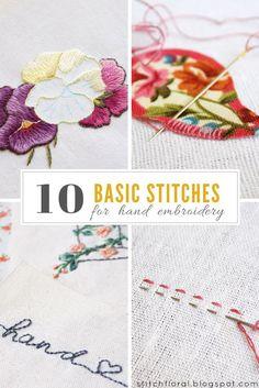 10 basic stitches fo