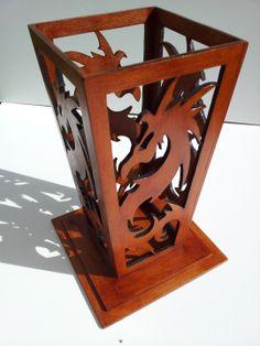Vase chinois en bois découpé au laser : Boîtes, coffrets par laser4creations