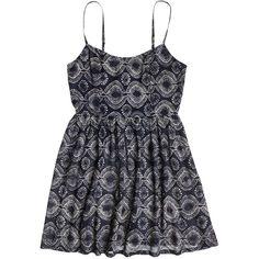 Roxy Waverly Dress ($25) ❤ liked on Polyvore