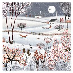 Leading Illustration & Publishing Agency based in London, New York & Marbella. Art And Illustration, Christmas Illustration, Art Fantaisiste, Art Populaire, Drawing Artist, Winter Art, Naive Art, Whimsical Art, Christmas Art