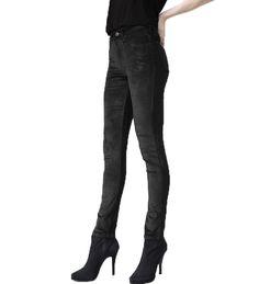 High Waisted Skinny- Black Velvet