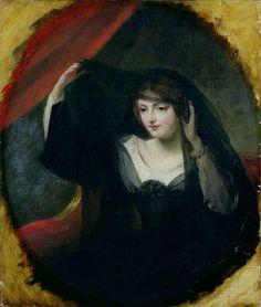 Olivia Raising her Veil  Charles Robert Leslie - 1845  Painting - oil on panel  Harris Museum and Art Gallery (England)