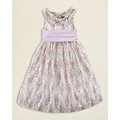 Ralph Lauren Childrenswear Girls Seersucker Floral Dress - Sizes 2T-6X