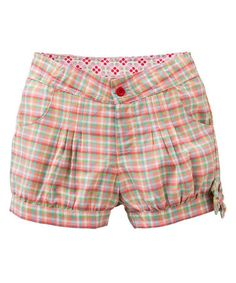 Another great find on #zulily! Orange Plaid Peachy Bubble Shorts - Toddler & Girls #zulilyfinds