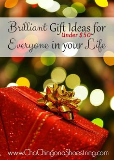 These gift ideas under $50 are out of the ordinary, but so clever. Great way to cross several people off your list, from kids to college students, parents and more!