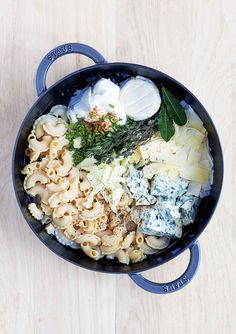 One-pot four cheeses pasta