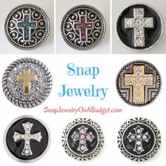 Snap Jewelry 18mm/20mm snaps. On sale in July 2017. Purchase a base piece of jewelry, then add one of these snaps to get a variety of looks. www.SnapJewelryOnABudget.com Join my email list to get access to my sales. https://www.snapjewelryonabudget.com/  FB fan page: https://www.facebook.com/SnapJewelryOnABudget