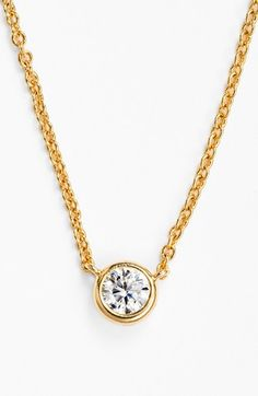 rounc crystal pendant necklace / baublebar