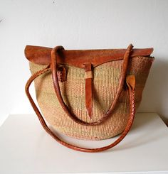 Vintage sisal bag