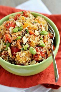 I found it!  I found it!  THIS is the BEST Quinoa salad.   Asian-Inspired Mandarin Quinoa Salad