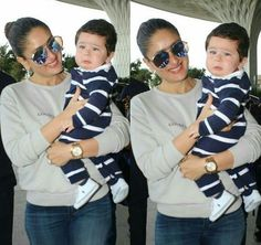 Taimur Ali Khan was spotted with his mother Kareena Kapoor Khan, and we can't help but go 'aww' over his cry face. The little cherub is accompanying his mom on her visit to Delhi as she would be starting to shoot for her film Veere Di Wedding. Bollywood Stars, Bollywood Fashion, Kareena Kapoor Khan, Deepika Padukone, Pakistani Actress, Bollywood Actress, Taimur Ali Khan Pataudi, Cute Baby Clothes, Clothes For Women