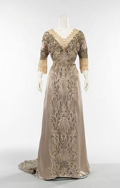 1908 Callot Soeurs - Another evening dress from a famous Parisian designer from the Edwardian era.   - by Diogioscuro