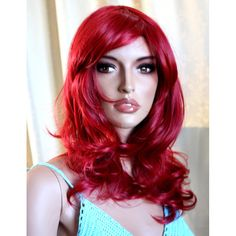 Buy curly burgundy red wig. Synthetic  wig -high quality wig - ready to ship by wigglywigs. Explore more products on http://wigglywigs.etsy.com