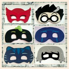 PJ Masks Pretend Play Masks Handmade Mask by TamsTinyBlessings