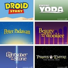 Star Wars Disney Movies. For some reason this is funny to me