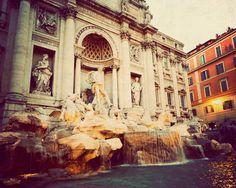 Rome photography Trevi Fountain Fine art photograph by JourneysEye, $28.00