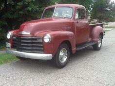 Pickups 5 window cab 1952 Chevrolet Pickup 3100 1/2 ton shortbed pickup truck
