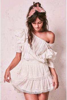 Loveshackfancy Natasha Dress - P Dresses Short, Nice Dresses, Casual Dresses, White Romper Dress, Moda Boho, Cinderella Dresses, Bohemian Wedding Dresses, Look Fashion, Diy Fashion