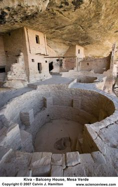 Kiva - Balcony House, Mesa Verde National Park, CO