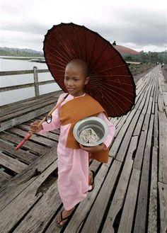Burmese nun.