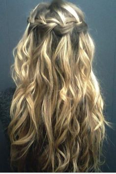 waterfall hair.