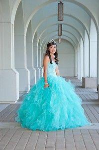 quinceanera dress Tiffany blue | eBay