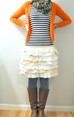 Ruffle skirt from old t-shirt