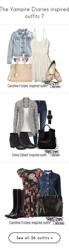"""""""The Vampire Diaries inspired outfits ♥"""" by tvdsarahmichele ❤ liked on Polyvore featuring Tom Ford, H&M, Abercrombie & Fitch, Burberry, Yves Saint Laurent, Gorjana, River Island, Dolce Vita, Foley + Corinna and Marc by Marc Jacobs"""