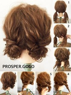 hair styles hairstyle how to bayalage to curl your hair hair hair hair Work Hairstyles, Pretty Hairstyles, Wedding Hairstyles, Dreadlock Hairstyles, Hairstyle Ideas, Two Buns Hairstyle, Short Hair Hairstyles Easy, Hairstyles 2016, Waitress Hairstyles