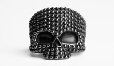 Image of Anello Teschio Dotted - Dotted Skull Ring