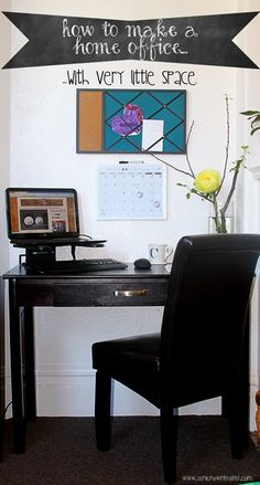DIY home office with very little space #LowesCreator