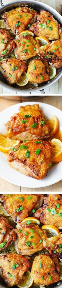 Lemon Ginger Chicken Thighs. These bone-in, skin-on chicken thighs always come out so flavorful and moist! Easy-to-make (35-minutes from-start-to-finish), budget-friendly weeknight dinner recipe! Gluten free! #BHG #sponsored