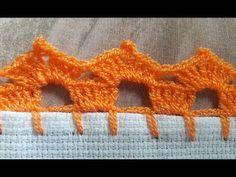 Crochet Border Patterns, Crochet Boarders, Crochet Blanket Edging, Crochet Lace Edging, Lace Patterns, Diy Crochet, Crochet Doilies, Crochet Stitches, Crochet Waffle Stitch