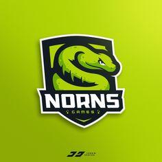 Nornsgames Snake Mascot Logo by José Rey Game Logo Design, Esports Logo, Sports Team Logos, Logo Sign, Logo Inspiration, Logo Branding, Illustration, Badge, Snake