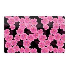 """Julia Grifol """"Pink on Black"""" Aluminum Magnet"""