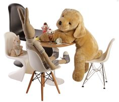 Replica Eames DSW Side Chair - Junior by Charles and Ray Eames - Matt Blatt Oh bless its a baby Eames! Eames Chair Replica, Eames Dsw Chair, Panton Chair, Big Comfy Chair, Most Comfortable Office Chair, Girls Desk Chair, Best Baby High Chair, Chair Leg Floor Protectors, Toddler Chair