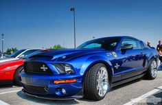 2007 Shelby Super Snake in sonic blue😍 Blue Mustang, New Ford Mustang, Ford Mustang Shelby Gt500, Mustang Cobra, Ford Gt, 2005 Mustang, Mustang Boss, Ford Shelby, Gta
